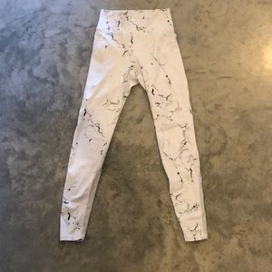 Buff Bunny White Marble Workout Leggings Tights